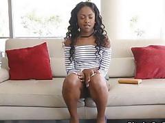 Perky black teen on fat dick
