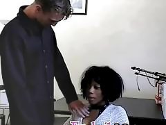 Hot African goes to a job interview and ends fucking