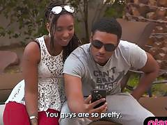 Black couple searches for a chick for their first threesome