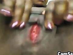 Oozing Ebony Pussy Close Up