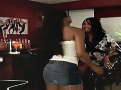 Beautiful Ebony Lesbian Seduces Friend  Ariel & Kapri