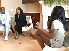 Black ebony fucks in public