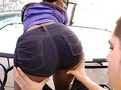 Black angel desires some taming for her booty